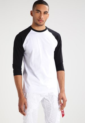 Long sleeved top - white/black