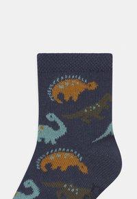 Ewers - DINO 4 PACK - Socks - white/blue - 2