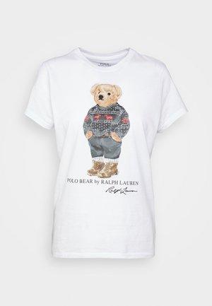 SKI SLEEVE - Apdrukāts T-krekls - white