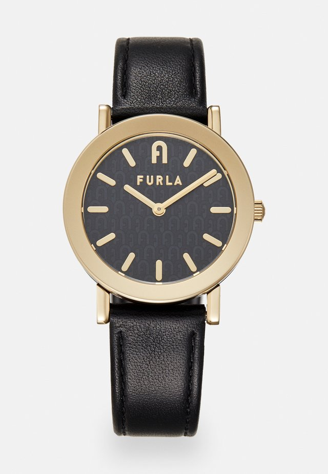 FURLA MINIMAL SHAPE - Montre - black/gold-coloured