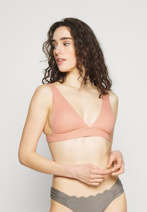 ELONGATED TRIANGLE BAND - Bikini top - beach peach