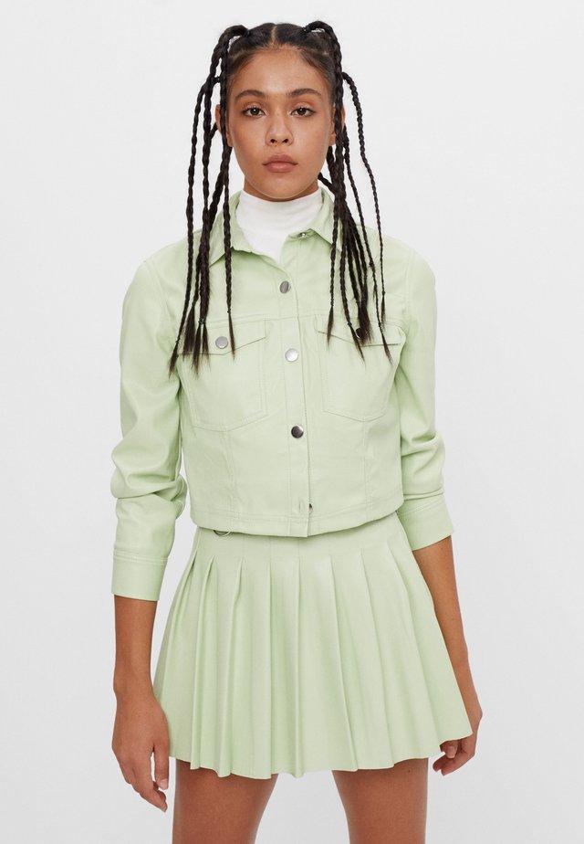 MIT KELLERFALTEN - Gonna a pieghe - green