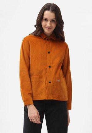 HIGGINSON  - Button-down blouse - pumpkin spice