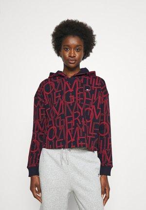 RELAXED AOP HOODIE  - Sweatshirt - black