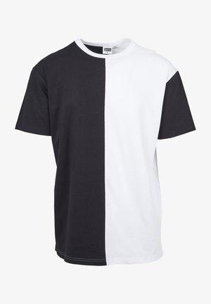 OVERSIZE HARLEQUIN TEE - Print T-shirt - black/white
