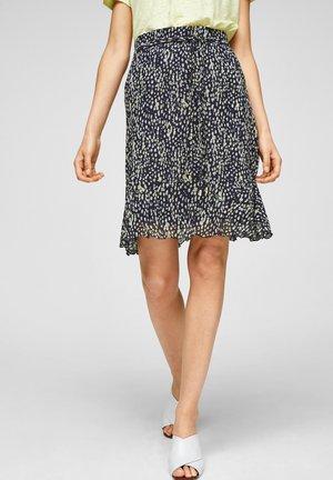 A-line skirt - navy aop