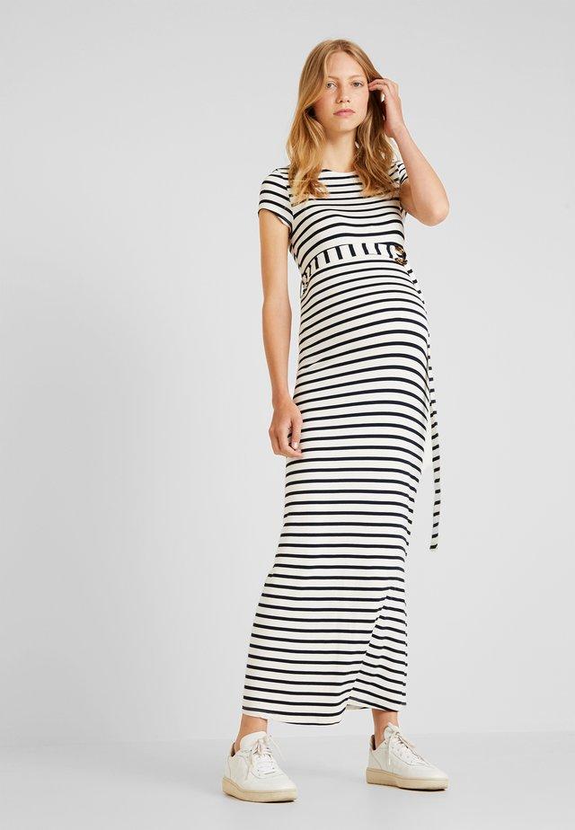 STRIPED TIE  - Robe longue - white