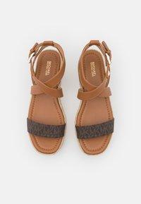 MICHAEL Michael Kors - LOWRY WEDGE - Platform sandals - brown - 4