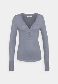 Abercrombie & Fitch - COZY HENLEY - Jumper - medium blue - 3