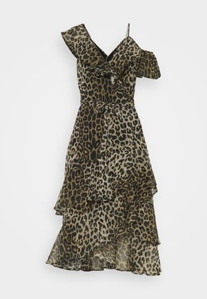 KARI LEPPO DRESS - Cocktail dress / Party dress - leopard yellow
