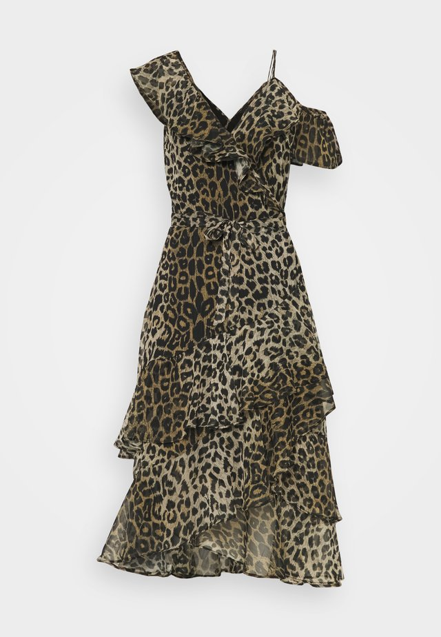 KARI LEPPO DRESS - Vestito elegante - leopard yellow