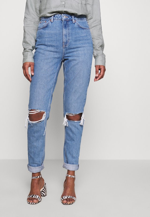 MOM DOUBLE - Jeans Relaxed Fit - blue denim