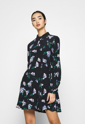 VMRIBINA SHORT DRESS  - Skjortekjole - black/ribina