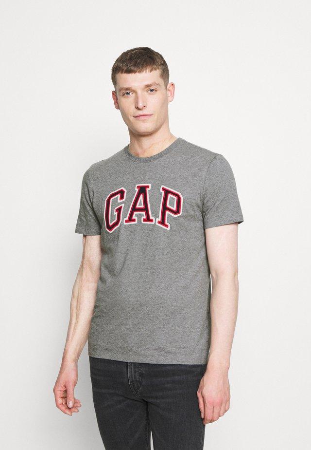 BAS ARCH - T-shirt z nadrukiem - grey heather