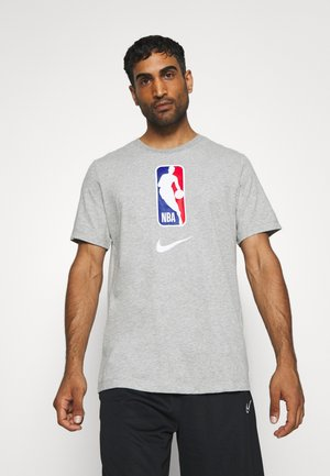 NBA DRY TEE - Printtipaita - dark grey heather