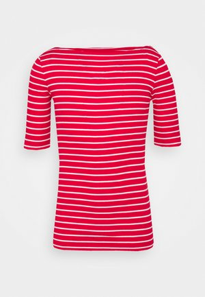 BOATNECK - Print T-shirt - red/white