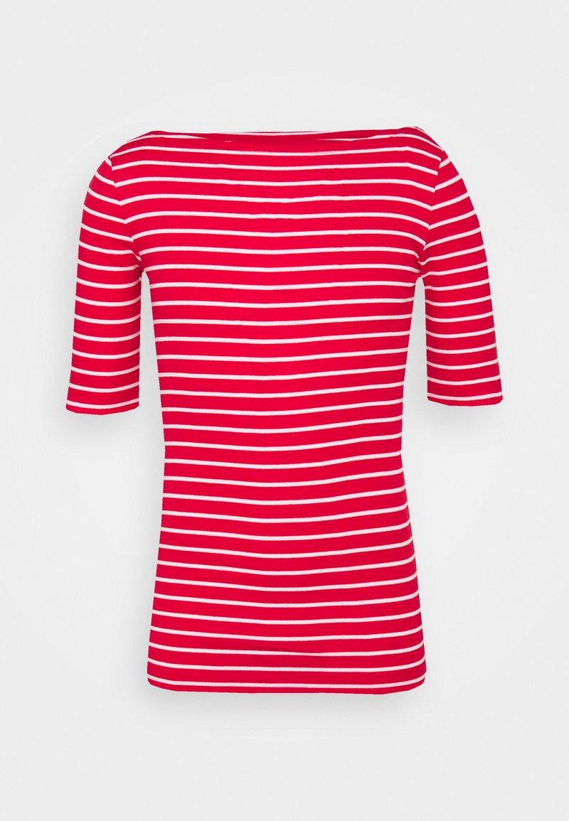 Gap Tall - BOATNECK - Print T-shirt - red/white