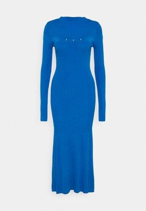 DRESS - Pletené šaty - blue biker