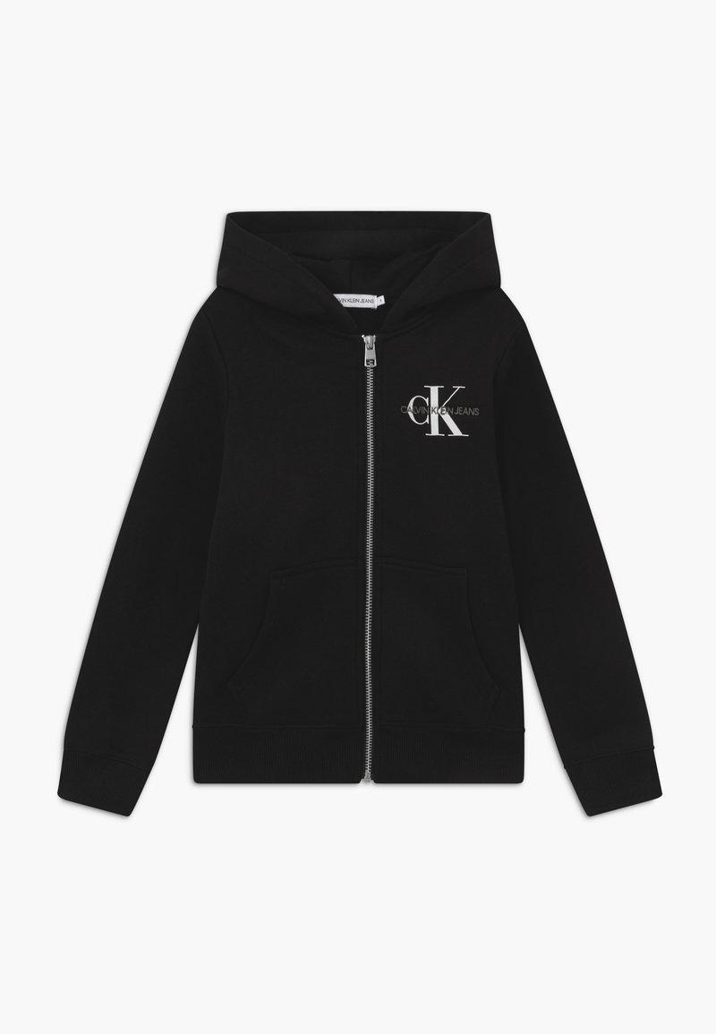 Calvin Klein Jeans - MONOGRAM CHEST ZIP HOODIE - Hoodie met rits - black