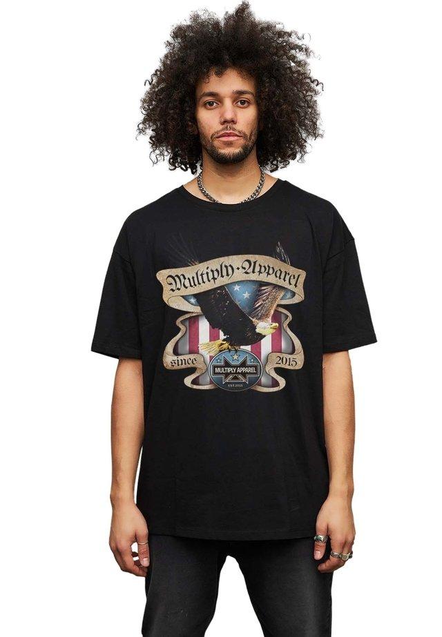 EAGLE - T-shirt print - black