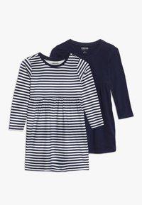 Zalando Essentials Kids - 2 PACK - Jersey dress - peacoat/winter white - 0