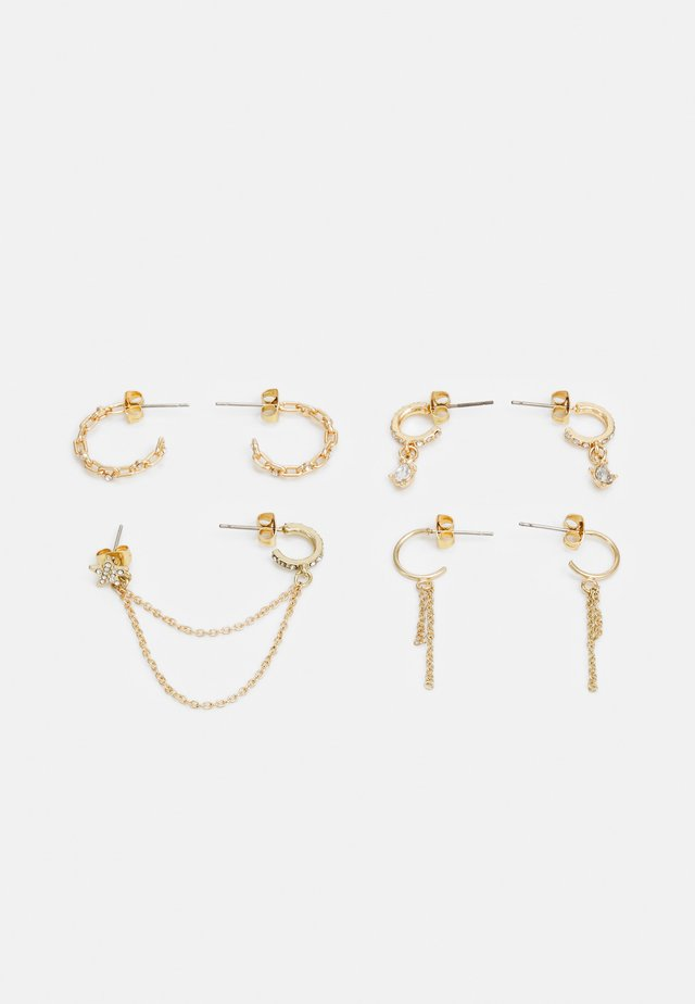 PCSANVI HOOP EARRINGS 4 PACK - Örhänge - gold-coloured