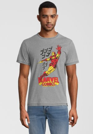 MARVEL COMICS IRON MAN  - T-shirt print - hellgrau
