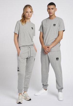 GRAHAM - Print T-shirt - grey melange