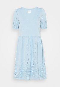 Vila - VITAMARA SHORT BRODERI DRESS - Denní šaty - blue - 3