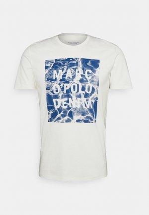 SHORT SLEEVE LOGO GRAPHIC - Print T-shirt - scandinavian white