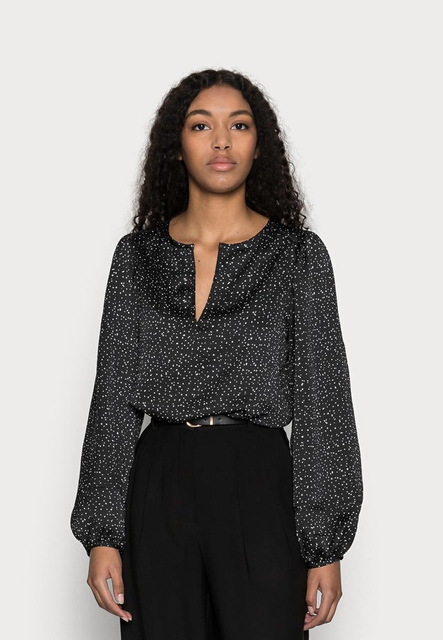 SPLIT BLOUSON  - Blouse - black