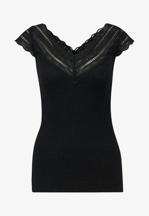 REGULAR WIDE - T-shirt z nadrukiem - black