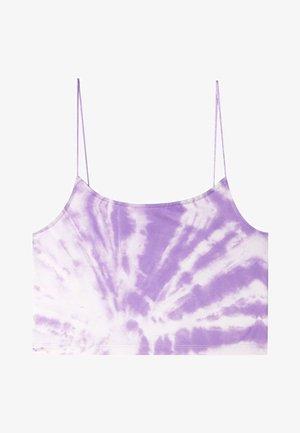 CROPPED-SHIRT MIT TIE-DYE  - Top - purple