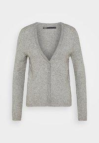 ONLLESLY V NECK BUTTON - Cardigan - medium grey melange