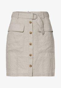 zero - MIT GÜRTEL - A-line skirt - beige - 4