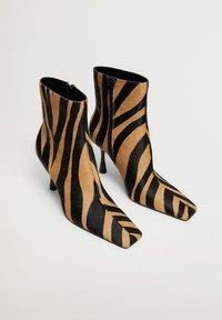 Mango - MODE1 - High heeled ankle boots - marron moyen - 2