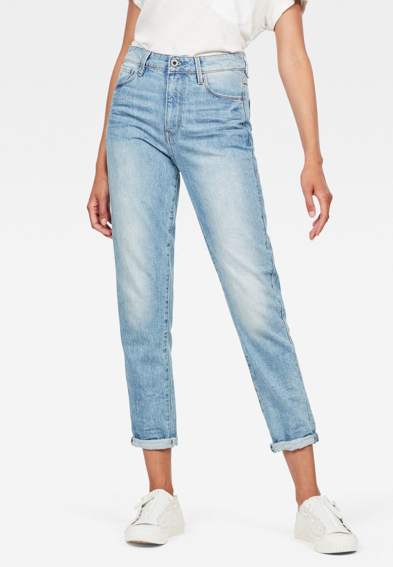 G-Star - 3301 HIGH STRAIGHT 90'S ANKLE - Straight leg jeans - authentic blue