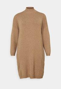 ONLY Carmakoma - CARPRIMEUS TUNNEL NECK TUNIC DRESS - Jumper dress - brownie - 4