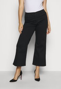 CAPSULE by Simply Be - WIDE LEG - Flared Jeans - black - 0