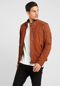 Oakwood - JAYDEN - Leather jacket - whisky - 3