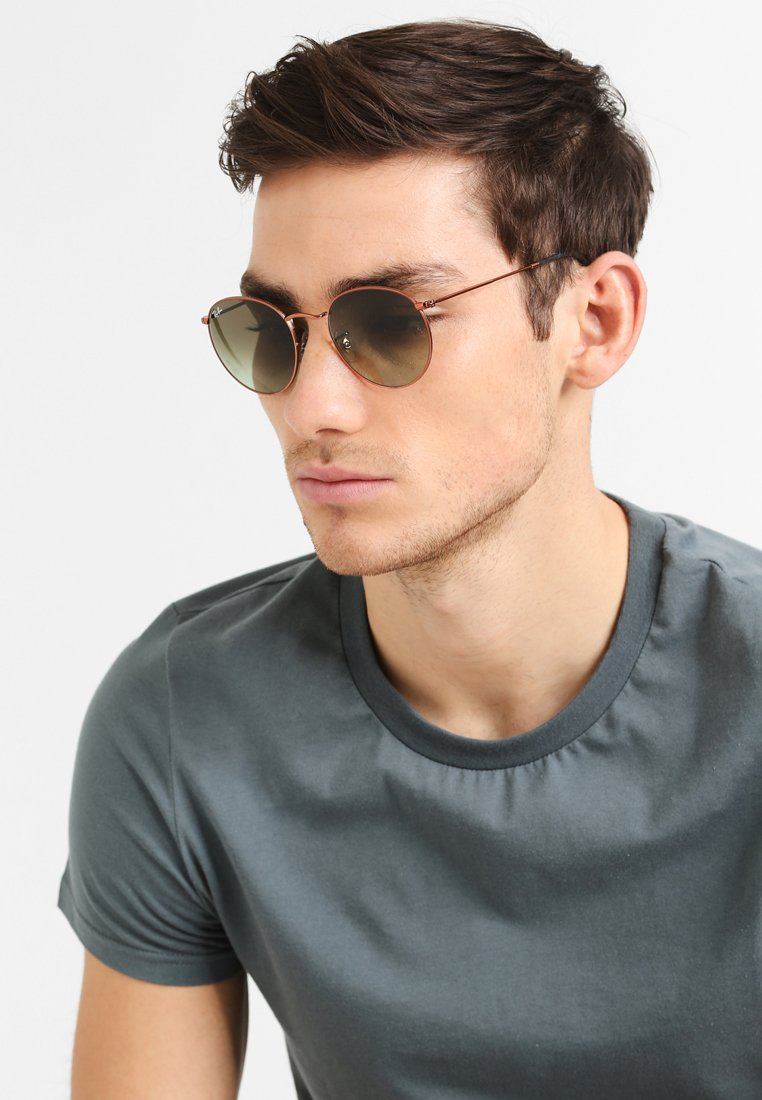 Ray-Ban - 0RB3447 ROUND METAL - Sunglasses - bronze/copper