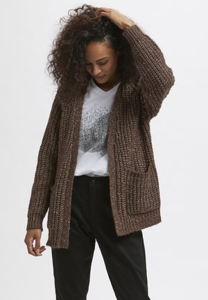 KANANIKA - Cardigan - brown multi color melange