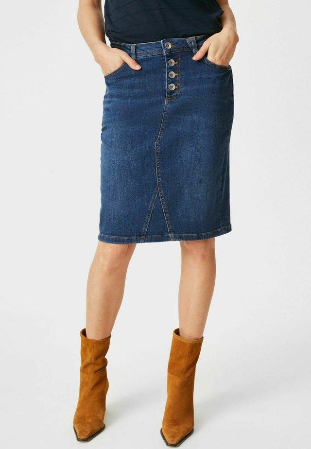 Kokerrok - jeans-blau