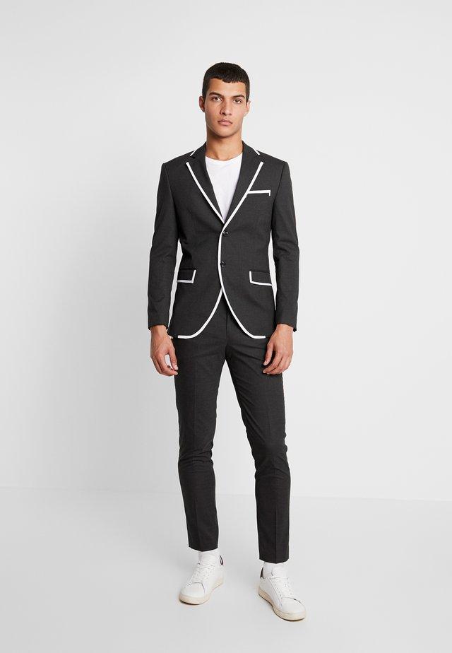 JPRMAX SUIT SLIM FIT - Suit - dark grey