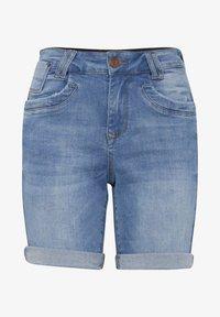 PULZ - Denim shorts - light blue denim - 4