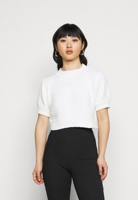 Missguided Petite - CHENILLE  - Print T-shirt - white - 0