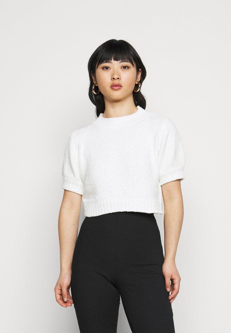 Missguided Petite - CHENILLE  - Print T-shirt - white