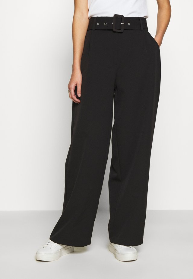 JDYPINE WIDE BELT PANT - Pantaloni - black