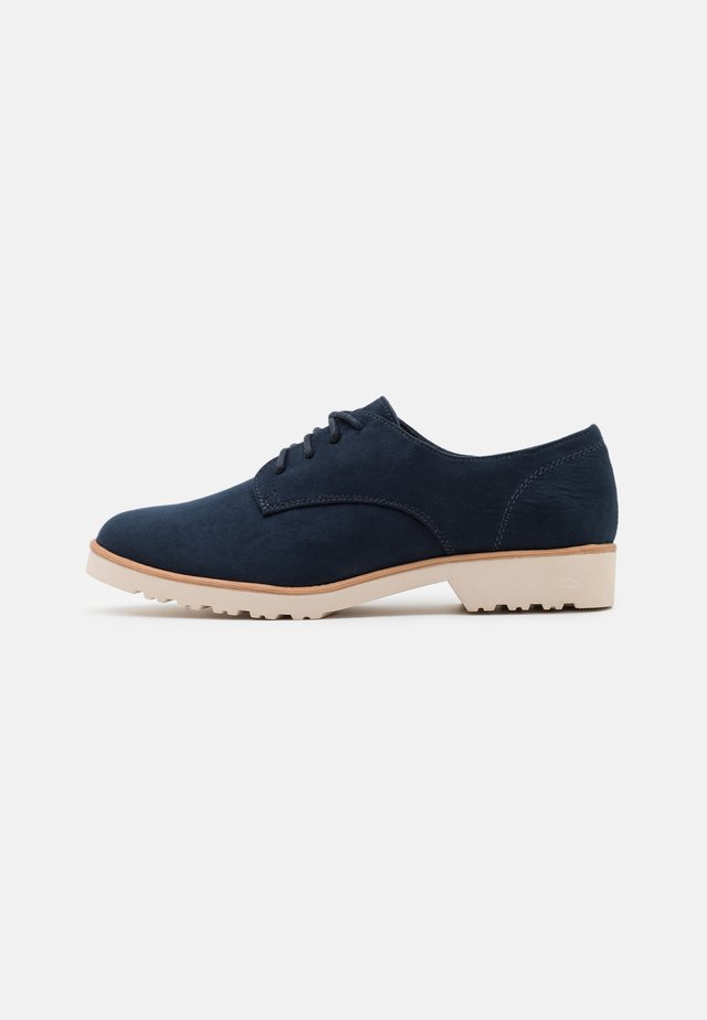 WIDE FIT LUSH LOAFER - Lace-ups - navy