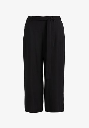NOUR LINE CROPPED PANTS - Bukse - black deep